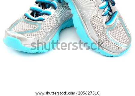 Sport shoes isolated on a white background. - stock photo