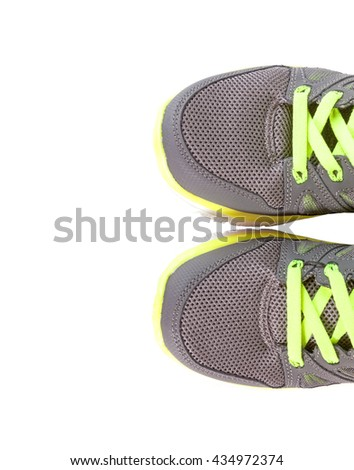 Sport shoes isolated on white background. - stock photo