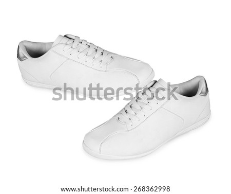 Sport shoes pair on a white - stock photo