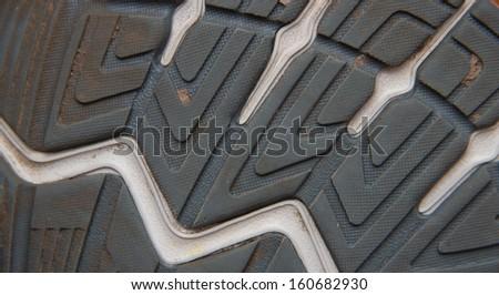 sport shoes sole texture - stock photo