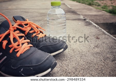 Sport shoes with water drink