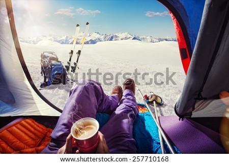 Sport.Skiing.Tourism - stock photo