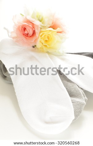 sport sock with artificial flower
