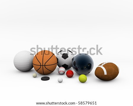 sport stuff isolated on white background