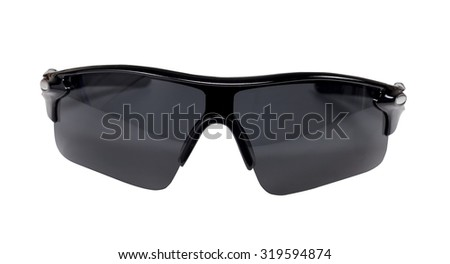 Sport sunglasses on white background