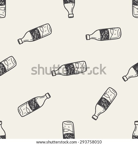sport water drink doodle seamless pattern background