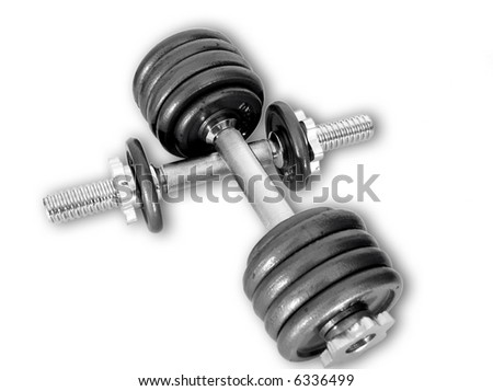 Sport weights - stock photo