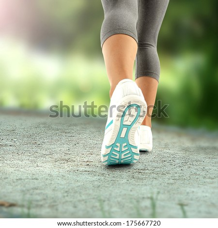 sport white shoes  - stock photo