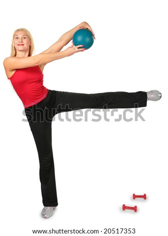 sport woman with ball