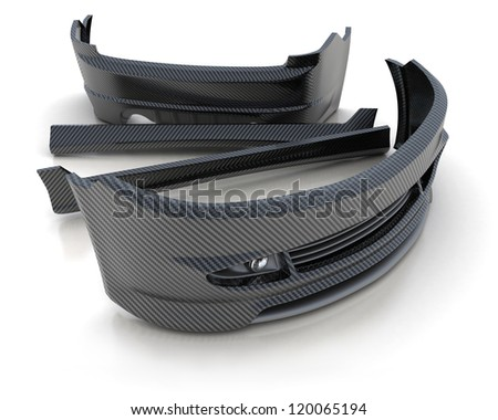 Sporting repair parts for an auto (3d) - stock photo