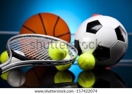 Sports, a lot of balls and stuff  - stock photo