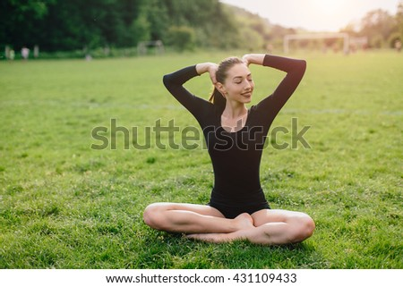 Sports and yoga girl