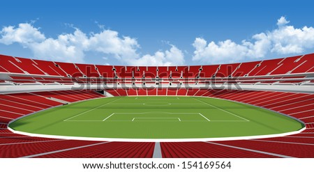 Sports background - stadium  - stock photo