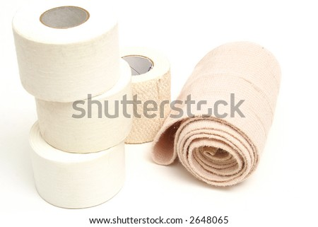 sports bandages on top - stock photo