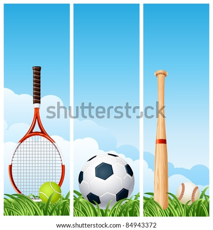Sports banners (raster version) - stock photo