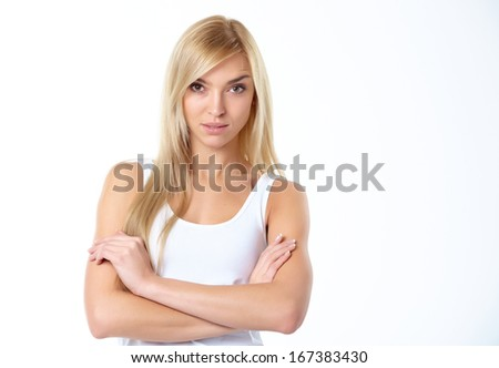 sports blonde - stock photo