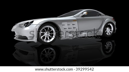 sports car from the side - stock photo
