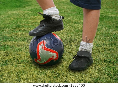 Sports. Close up of a soccer player (clipping path included). From my football series