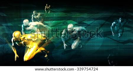 Sports Club for Competitive Sport Training Community - stock photo