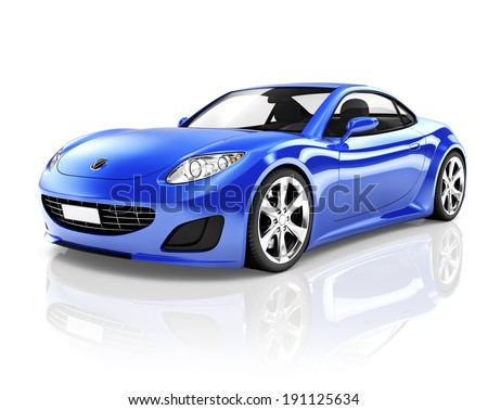 Sports 3D Car - stock photo