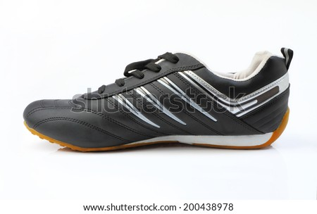 Sports footwear isolated on a white background - stock photo