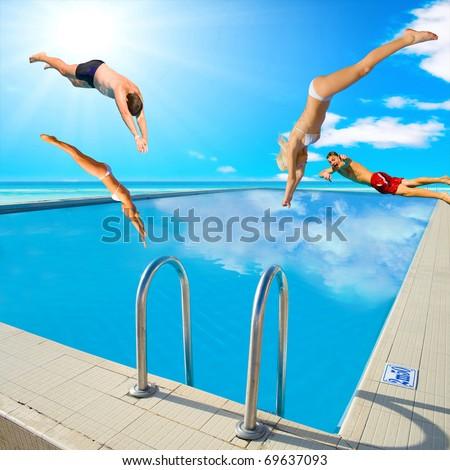 Sports Fun Summer - stock photo