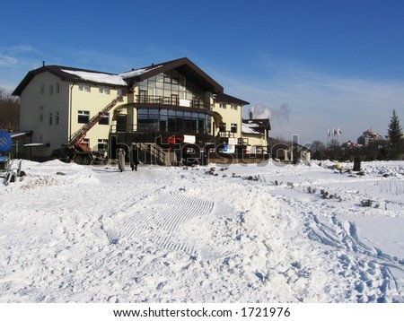 Sports hotel for winter