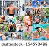 Sports lifestyle concept. People in sports - stock photo