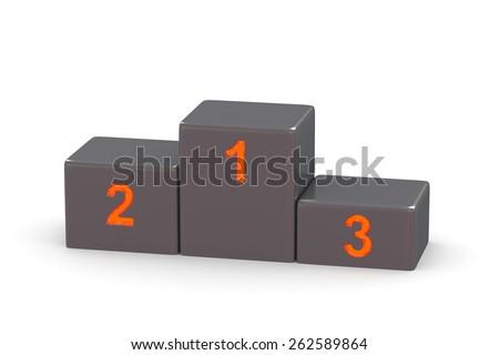 Sports pedestal. 3d - stock photo