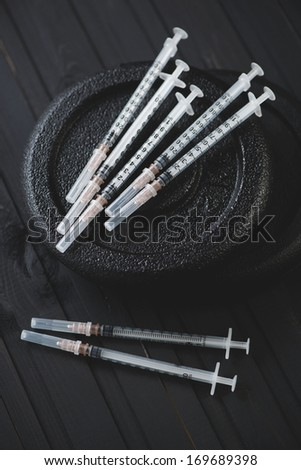 Sports pharmacology concept, vertical shot - stock photo
