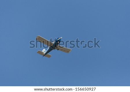 Sports plane against the blue sky