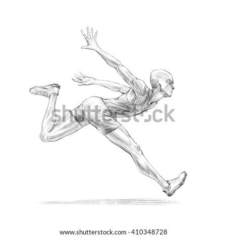 how to draw man running