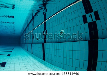 sports swimming pool underwater lanes underwater starting with number one swimming pool