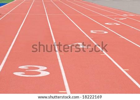 Sports Track - stock photo