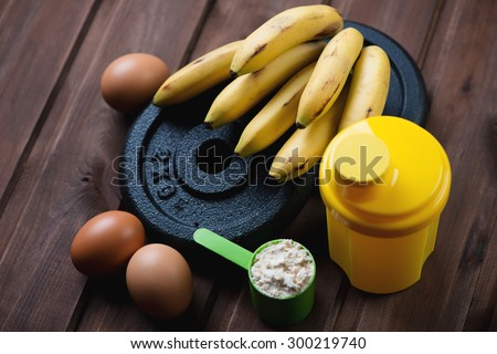 Sports training and nutrition concept. Selective focus - stock photo