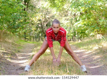 Sports woman in the nature