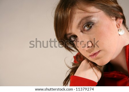 Sporty Attractive Young Caucasian Woman with Bown Hair