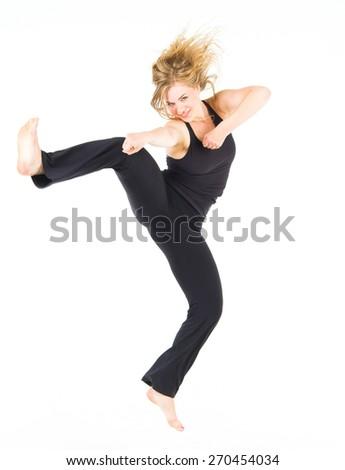 Sporty Elegance Ballet Model  - stock photo