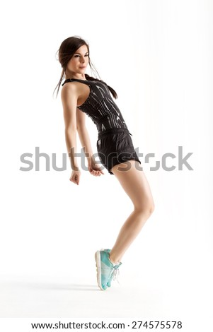 sporty woman doing exercise in dance