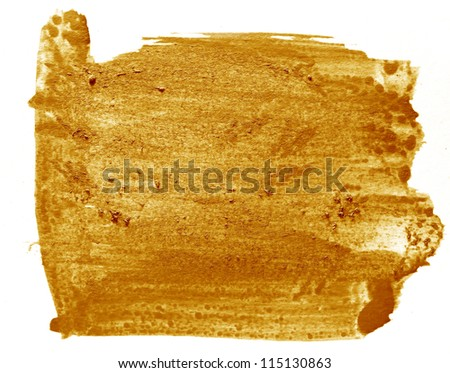 spot brown art watercolor pointer texture isolated on a white background