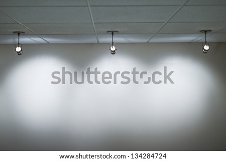 Spot light as background - stock photo