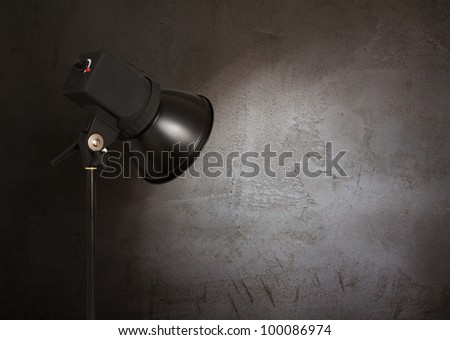 spot light on concrete wall, urban background