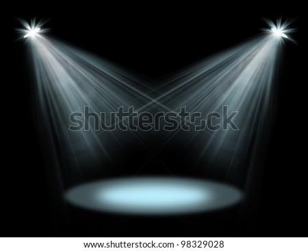 spot lights - stock photo