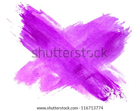 spot watercolor table blotch texture purple isolated on a white background