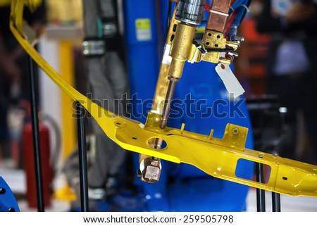 Spot Welding Machine for Automotive Industry - stock photo