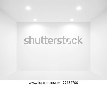 Spotlight and empty space - stock photo