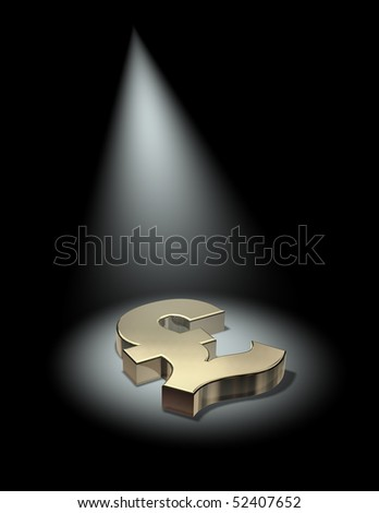 Spotlight on the pound - stock photo