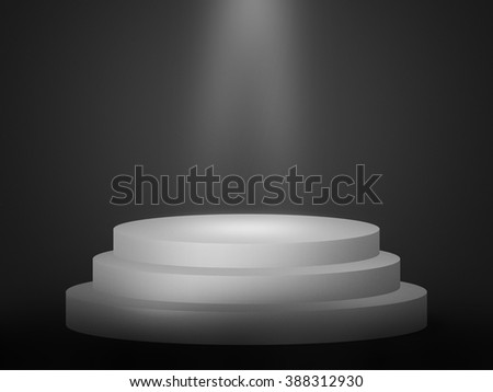 Spotlight Podium Background