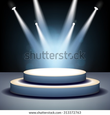 Spotlight shining on empty stage