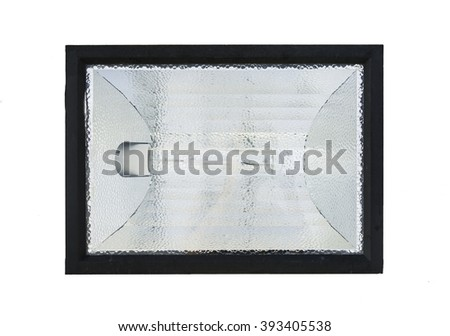 Spotlights on a white background.